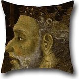 Mateus Rose - Oil Painting Jaume Mateu - Alfons IV The Magnanimous Pillow Shams 18 X 18 Inches / 45 By 45 Cm For Christmas,gf,festival,home Office,bedding,him With Each Side