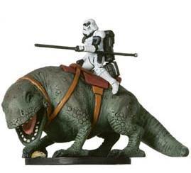 Star Wars Miniatures  Sandtrooper On Dewback   40   Rebel Storm