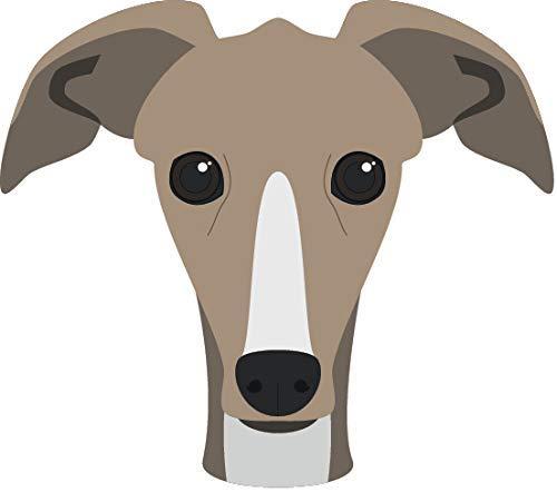(Magnet Cute Sweet Adorable Puppy Dog Head Breed Cartoon Vinyl Magnet (4