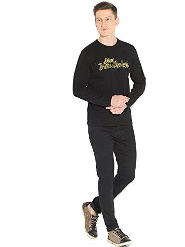 À Von Logo Dutch Longues Classique Noir Homme Chemise T shirt Col Manches qtUOtB