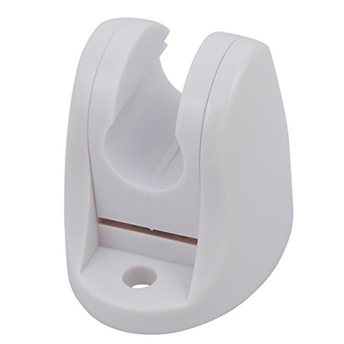 Aexit Bathroom Shower Home Hardware Accessory ABS Plastic Adjustable Wall Mount Bracket White Model:68as66qo556