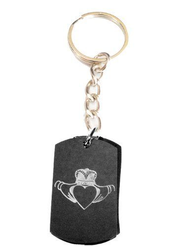 Irish Claddah Ring Ireland Love Open Heart Logo Symbols - Metal Ring Key Chain Keychain
