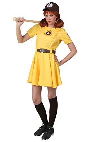 Plus Size A League of Their Own Kit Costume 3X Yellow (Kit Costume A League Of Their Own)