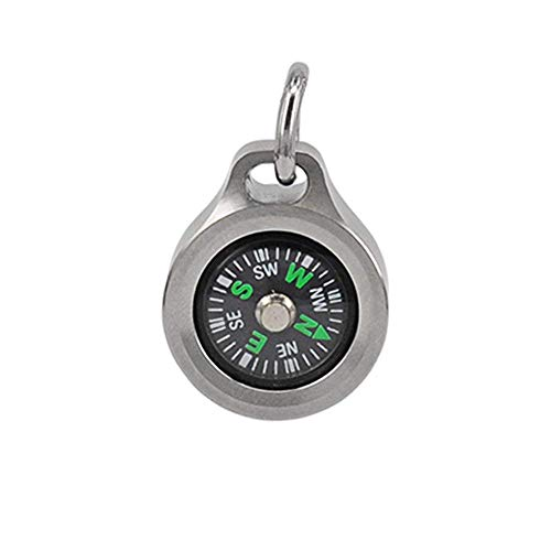 - Mecarmy Keychain Compass CMP with Chain Tear Drop Shaped Design Designed for Everyday wear (Titanium)