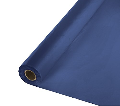 (Creative Converting Roll Plastic Table Cover, 100-Feet, Navy)