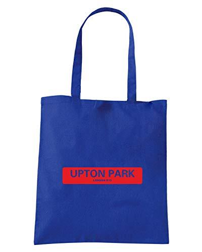 PARK UPTON E13 Blu Shopper Royal SIGNS LONDON ROAD Borsa LONDON OLDENG00810 qf80qF