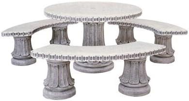 conjunto Comedor de Piedra para Jardin Circular Romántico Pulido ...