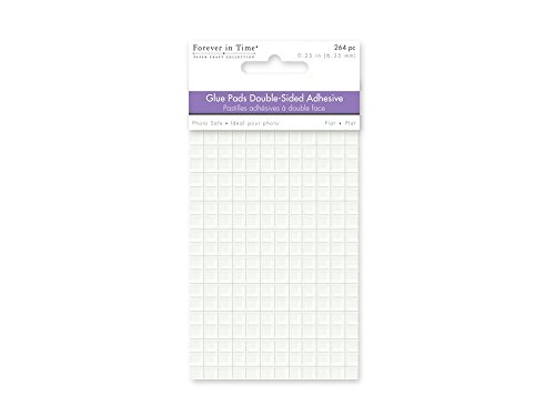 Glue Pad - Forever In Time Double Sided Square Glue Pads, 1/4-Inch, 264 Per Package, Clear Flat