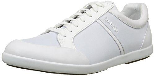 Calf Wht Homme Baskets Klein Darwin Shiny Blanc Calvin nqt06wHXx