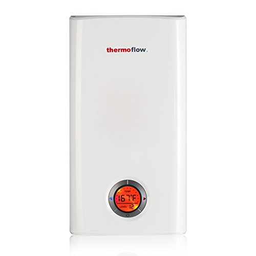 Thermoflow Elex 24 Electric Tankless Water Heater,24kW at 240 Volts, Instant Hot Water Heater with Self-Modulating Temperature Technology for Whole (Tankless Water Heater Storage Tank)