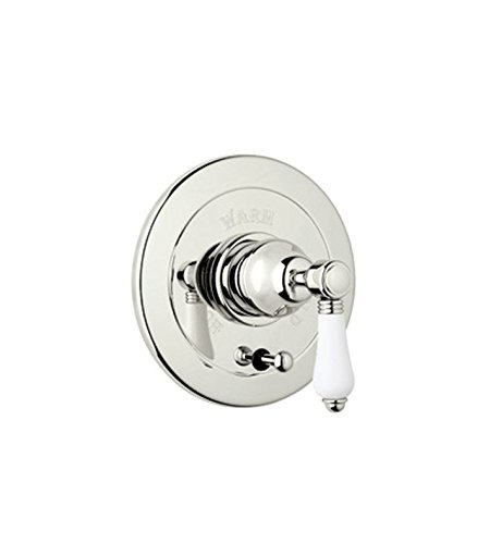Rohl A7400XMSTN Country Bath Trim Kit for Pressure Balance with Integrated Volume Control with Cross Handle /& Diverter Satin Nickel