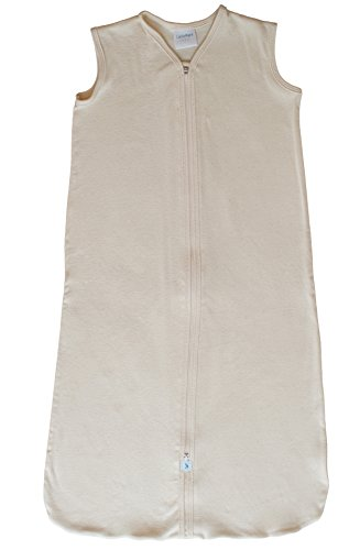 CastleWare Baby Organic Rib Knit Sleeper Bag- Sleeveless- Newborn-XXL (XX Large 18-36 Months, Natural) by CastleWare Baby