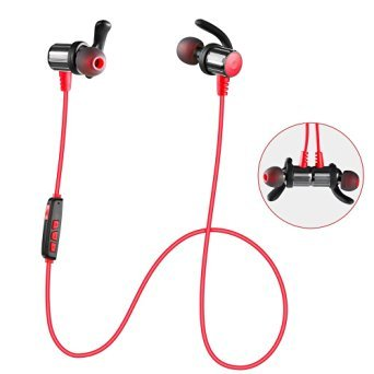 Bluetooth Headphones TONESOUL Wireless Magnetic Headset Sweatproof In-ear Sports Running Jogging Stereo Earbuds...