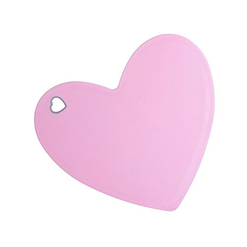 AQQAS Small Cutting Board Heart Shaped Plastic Pink Fruit Chopping Boards Mat for Vegetables, Fruits, Crackers & Cheese - Love and Cute Kitchen Gifts for Women or Girls