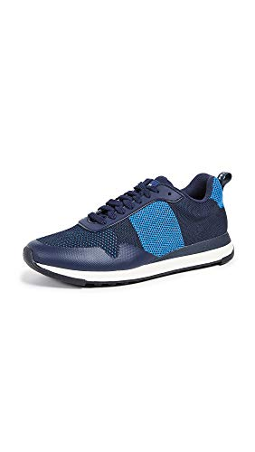 (PS Paul Smith Men's Rappid Knit Sneakers, Dark Navy Reflective, Blue, 9 M UK)