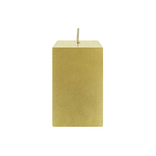 Mega Candles Unscented Gold Square Pillar Candle | Hand Poured Premium Wax Candles 2