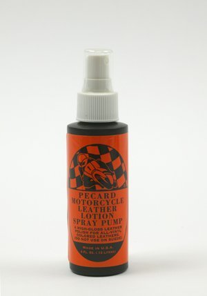 Pecard Motorcycle High Gloss Leather Lotion 4oz Spray Pump