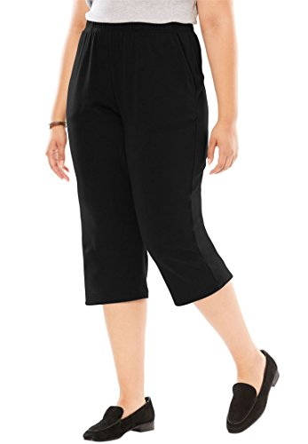 Women's Plus Size 7-Day Knit Capri by Woman Within (Image #2)