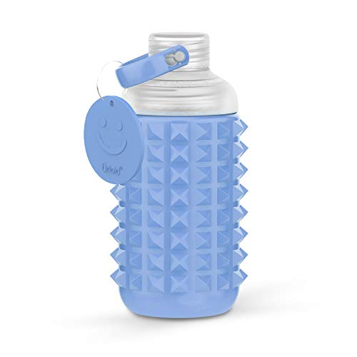 Artoid Mode 21oz Spiked Sport Water Bottle with Silicone Protective Sleeve & Leak Proof Lid   Non-Toxic BPA Free & Eco-Friendly Plastic, Dishwasher Safe