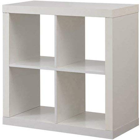 Better Homes and Gardens Bookshelf Square Storage Cabinet 4-Cube Organizer White from Better Homes and Gardens*