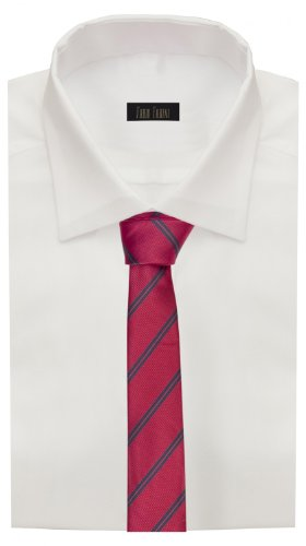 Cravate de Fabio Farini à rayures en rouge