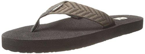 Teva Women's Mush Flip Flop ( Pack of 2 ),Fronds Black/Fronds Brown,7 M US