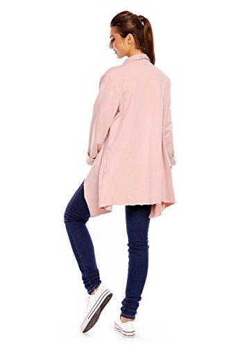 New Collection cardigan pour femme dans un design décontracté, Farbe:Rosa, Größe:Einheitsgröße