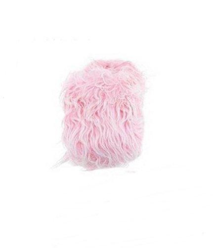 Womens Fuzzy Comfy Faux Fur Tøfler Huset Sko Rosa