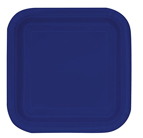 Square Navy Blue Paper Plates