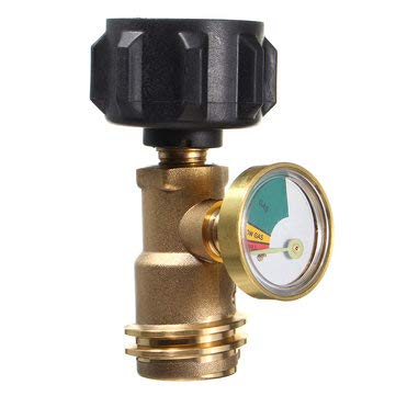 Propane Tank Gauge Indicator Detector Connection Splitter Connector - 1PCs (Series Propane Brass)
