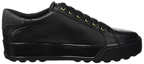 Mujer 3 000 Negro Para Stonefly Derby Zapatos nero De Stella Nappa Cordones pPqU58O