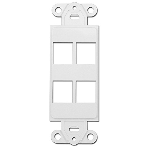 Skywalker 4 Port Keystone Decora Style Insert Strap, White