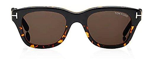 Tom Ford Snowdon New Sunglasses (52 mm, Black & Havana Frame Solid Brown - Tom Ford Snowdon Sunglasses