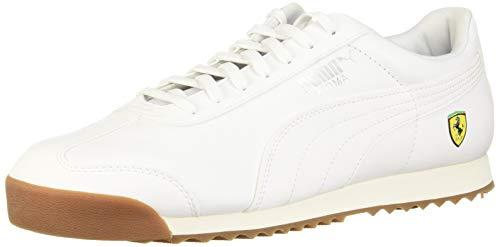 (PUMA Men's Ferrari Roma Sneaker, White, 9 M US)