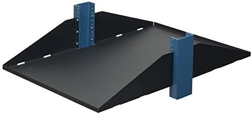 RackSolutions 3U 2-Post Solid Relay Rack Mount Shelf 29 Inch Depth Flanges Up