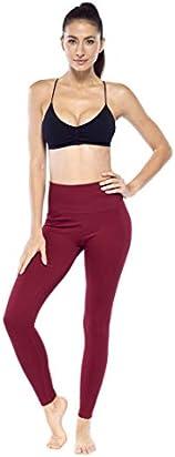 Electric Yoga Idol Leggings - Seamless High Waist Tummy Control Pants for Women (X-Small/Small, Burgundy)