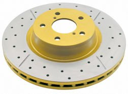 Street Series Drilled and Slotted Disc Brake Rotor 486X Front DBA