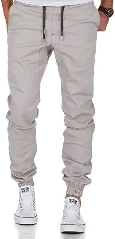 Amaci&Sons Męskie spodnie stretch Jogger Basic Chino Cargo 7002: Odzież