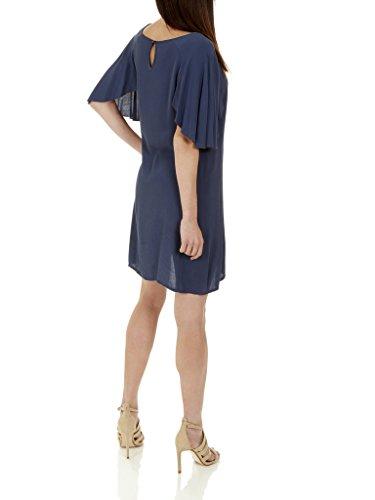 Vestido Belinda con mangas de estilo mariposa - Large - azul