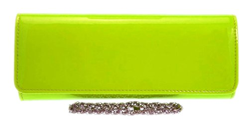 Clutch Girly Evening HandBags Neon Bag Colors Designer Elegant Leather Yellow Women Patent Faux Retro Fashion pqrIfxqwC