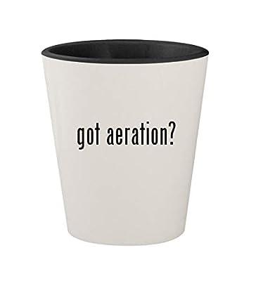 got aeration? - Ceramic White Outer & Black Inner 1.5oz Shot Glass
