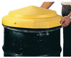 Polyethylene Eagle Drum Covers, Yellow - Open Head