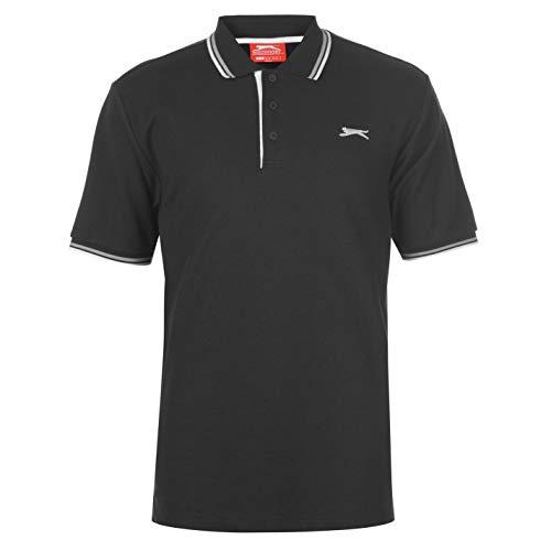 Slazenger Herren Polo Shirt Kurzarm Streifen Details