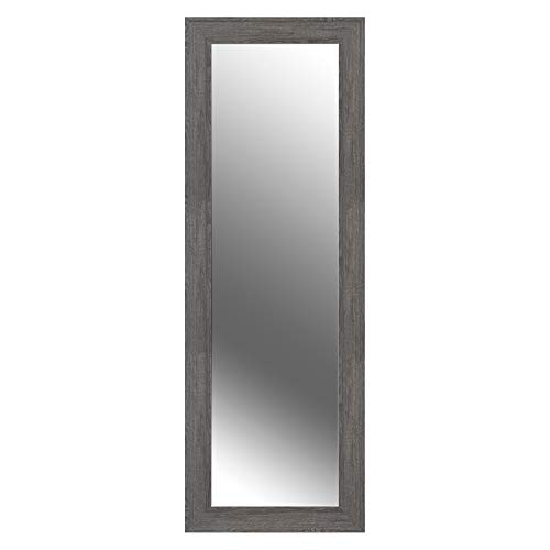Everly Hart Collection Woodgrain Framed Wall Mounted or Leaner Mirror, 16