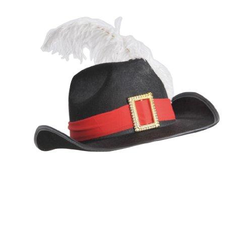 93d1bada6b3dc Happy Boys Sombrero para disfraz de mosquetero para niño  Amazon.es   Juguetes y juegos