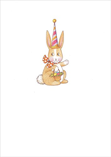 Bunny with Tall Hat - Recycled Paper Greetings Mary Engelbreit Easter Card