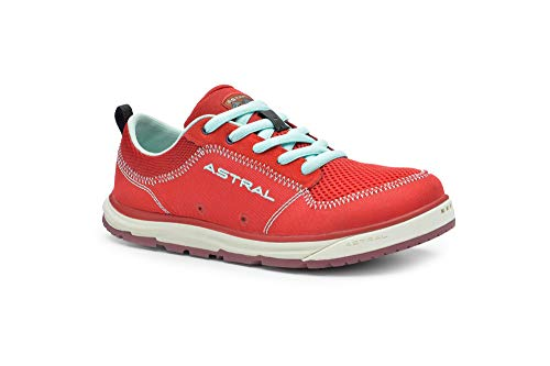 Astral Women's Brewess 2.0 Everyday Minimalist Outdoor Sneakers, Grippy and Quick Drying, Made for Water Sports, Travel, and Rock Scrambling, Rosa Red, 8.5 M US