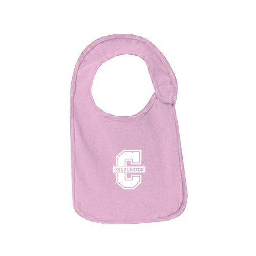 College of Charleston Light Pink Baby Bib 'Official Logo - C Charleston'