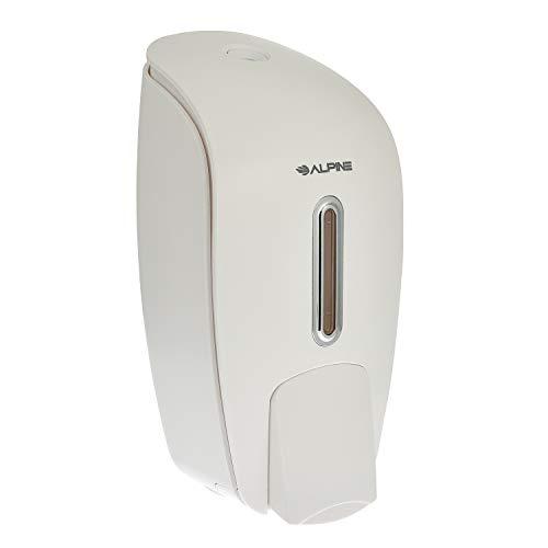 Alpine Industries Liquid Soap & Hand Sanitizer Dispenser, Surface Mounted, 800 ml Capacity (White)