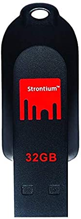 Strontium Pollex 32GB Flash Drive (Black/Red) Pen Drives at amazon